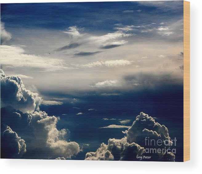 Art For The Wall...patzer Photography Wood Print featuring the photograph Deep Blue by Greg Patzer