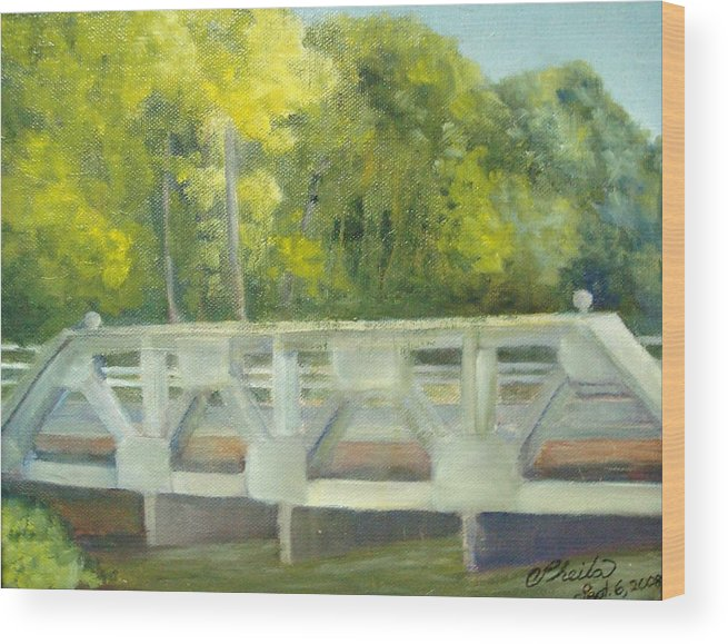 Smithville Park Wood Print featuring the painting Do You Paint Fish? by Sheila Mashaw