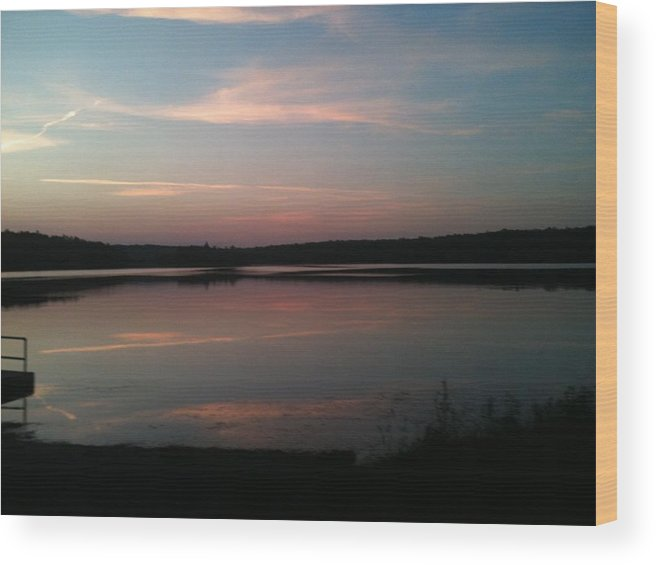 Dusk Wood Print featuring the photograph Dusk by Sheila Mashaw