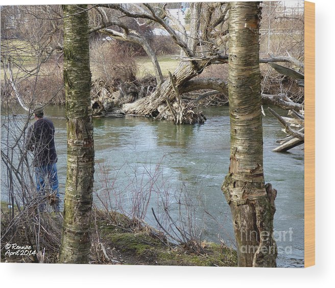 Waterscape Wood Print featuring the photograph First Day Of Fishing by Rennae Christman