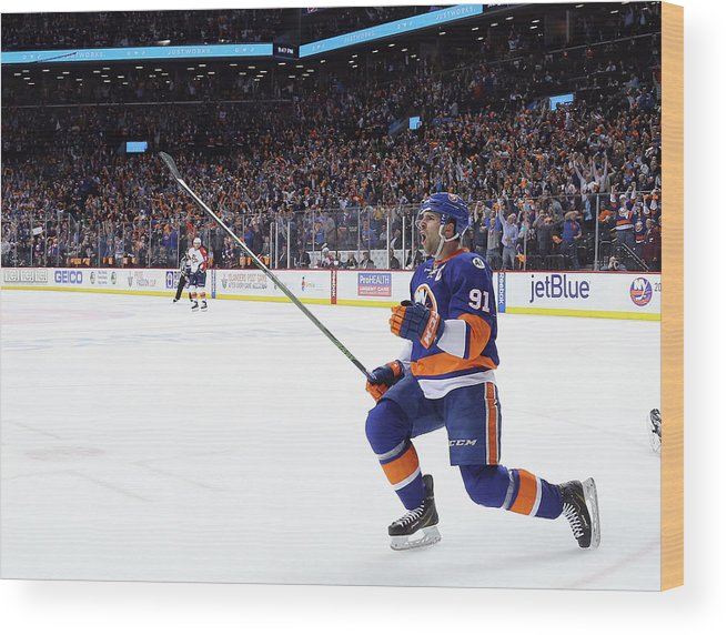 Playoffs Wood Print featuring the photograph Florida Panthers V New York Islanders - by Bruce Bennett