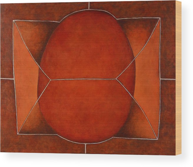 Abstract Art Wood Print featuring the painting Held In 2 by David Douthat