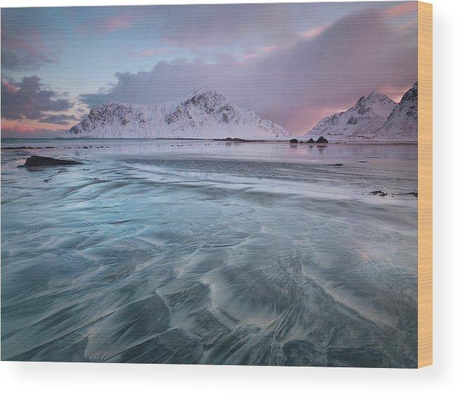 Scenics Wood Print featuring the photograph Lofoten Island Sunrise by Antonyspencer