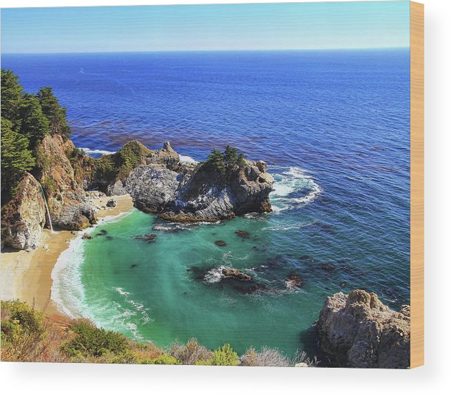 Scenics Wood Print featuring the photograph Mcway Falls by David Toussaint