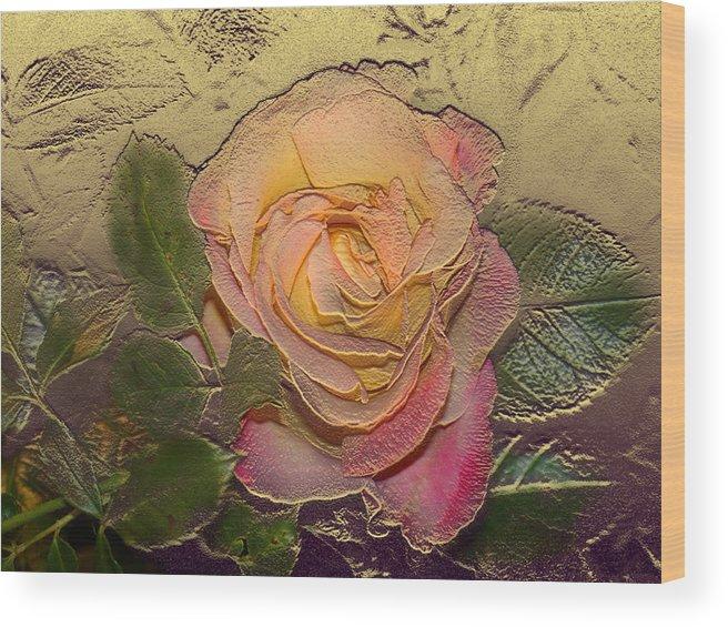 Rose Wood Print featuring the digital art Midas Rose by Steve Karol