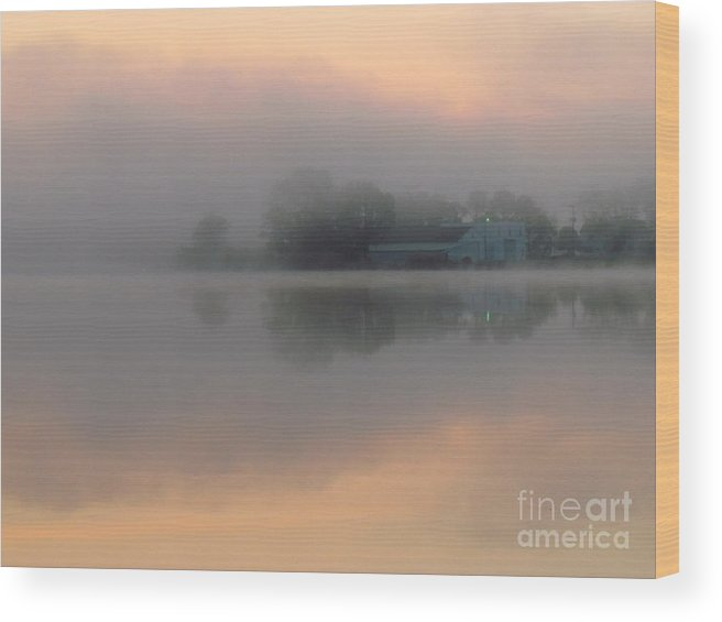 Nature Wood Print featuring the photograph Mist At Dawn 02 by Rrrose Pix