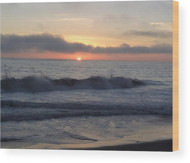 Nature Wood Print featuring the photograph Sunset by Anandi Godse
