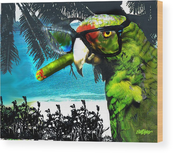 The Great Bird Of Casablanca Wood Print featuring the digital art The Great Bird Of Casablanca by Seth Weaver