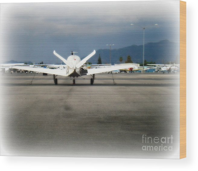 Aviation Wood Print featuring the photograph What fly girl is dreaming about by De La Rosa Concert Photography