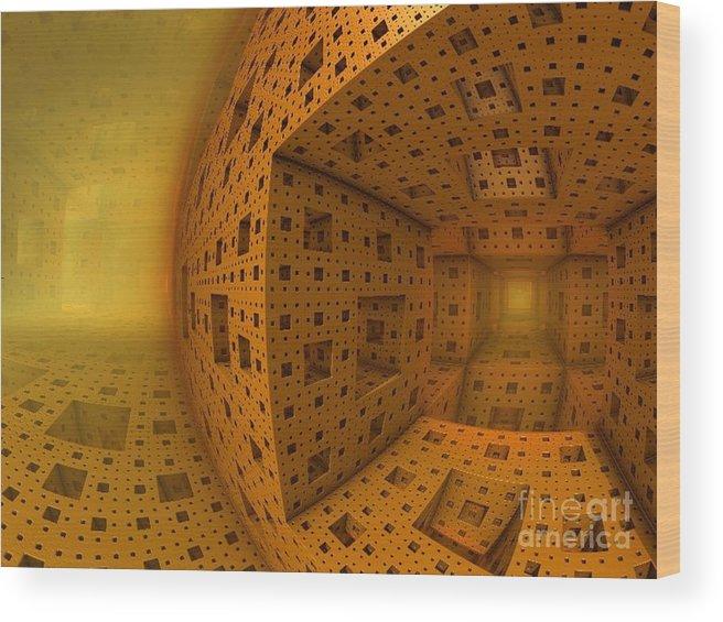 Amber Wood Print featuring the digital art A Whole New World by Vicki Lynn Sodora