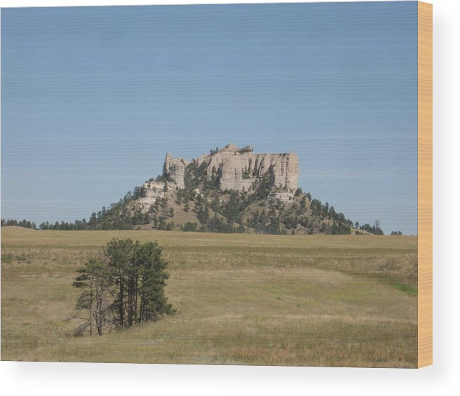 High Plains Wood Print featuring the photograph Crow Butte by J W Kelly