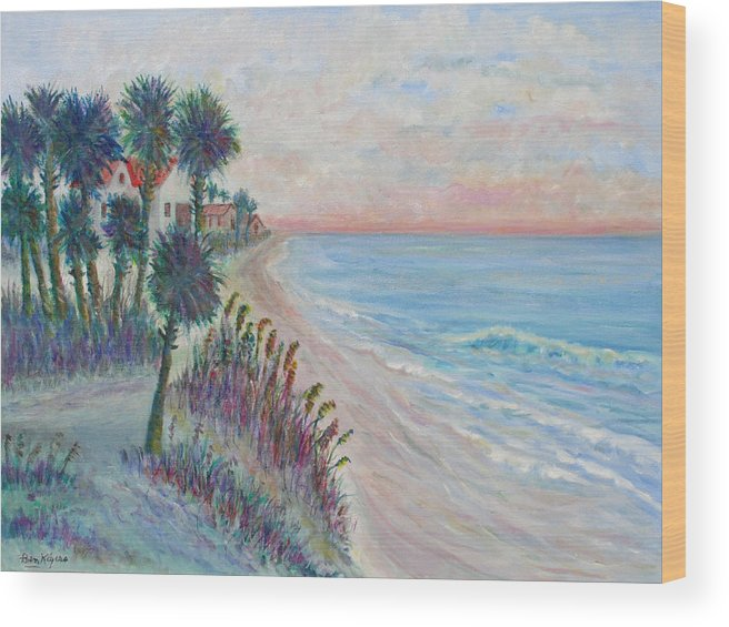 Seascape Wood Print featuring the painting Isle of Palms by Ben Kiger