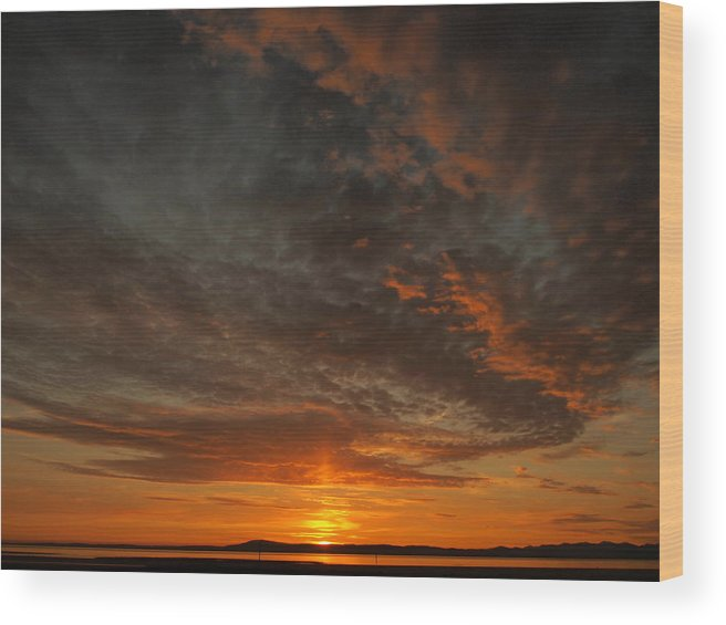 Morecambe Wood Print featuring the photograph Morecambe Sunset by Christopher Mercer