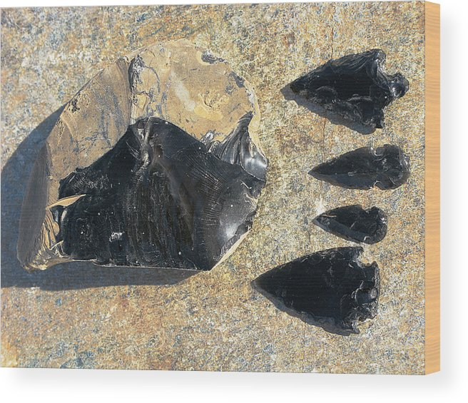 Obsidian Wood Print featuring the photograph Obsidian by Andonis Katanos