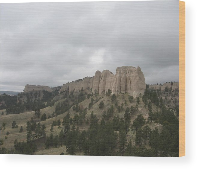 Rock Formation Wood Print featuring the photograph Red Cloud Buttes by J W Kelly