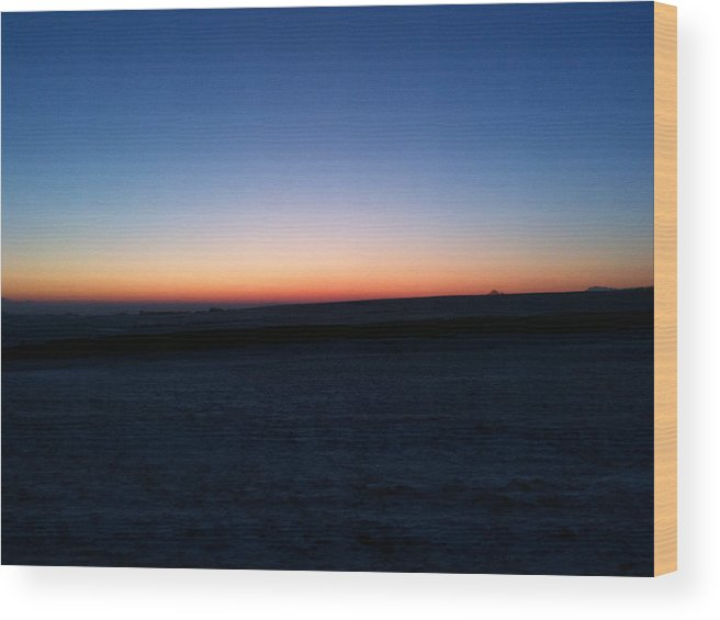 Sunset Wood Print featuring the photograph Sunset by Christopher Mercer