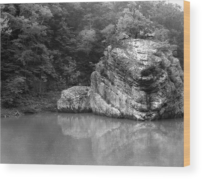 Ansel Adams Wood Print featuring the photograph Rock by Curtis J Neeley Jr