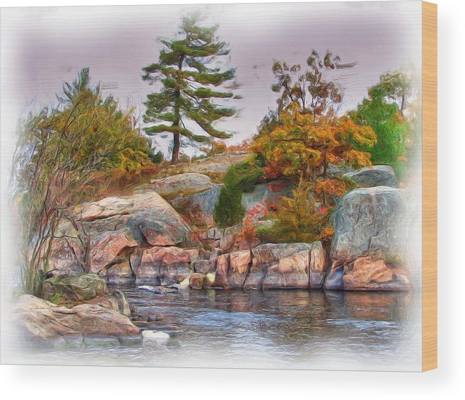 Digital Wood Print featuring the painting Untitled 1 by Lori DeBruijn