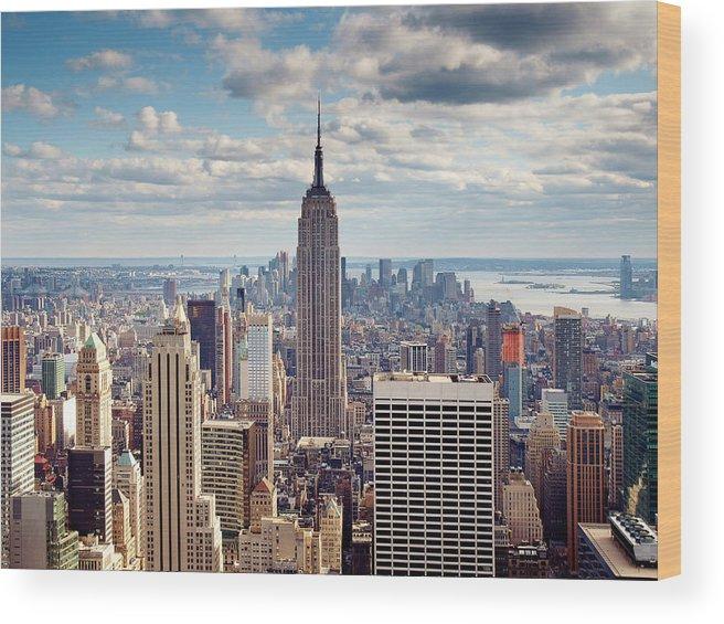 Ny Wood Print featuring the photograph NYC Empire by Nina Papiorek