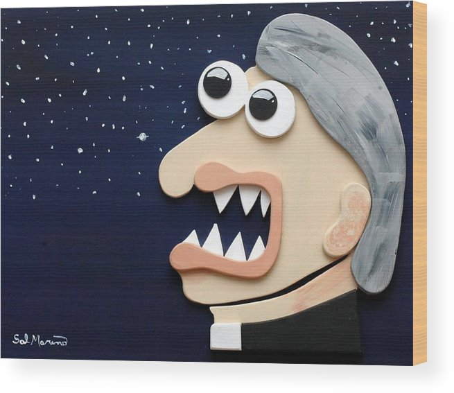 Funism Wood Print featuring the sculpture Beyond Stars by Sal Marino