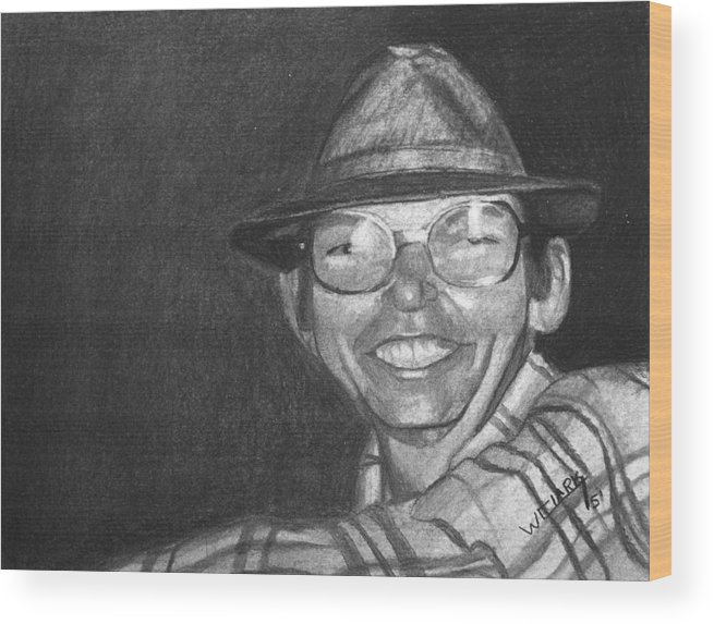 Charcoal Wood Print featuring the drawing Charcoal Commission by Wade Clark