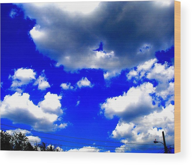 Photograp Prints Wood Print featuring the photograph Clouds Study 1 by Teo Santa