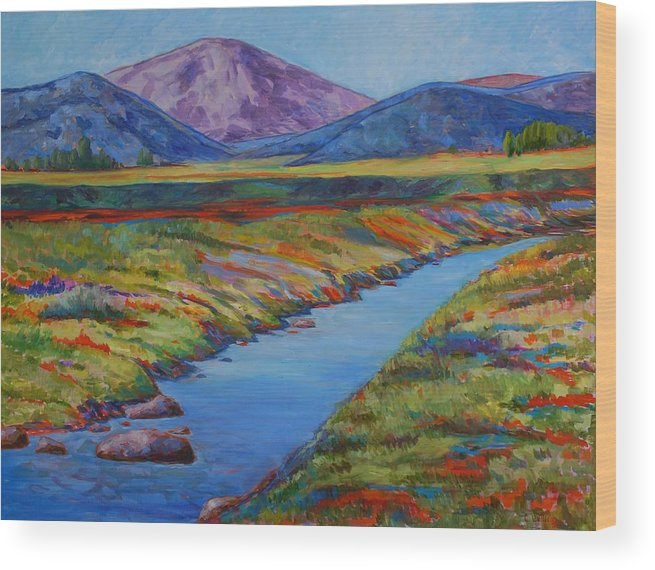 Colorful Landscpae Wood Print featuring the painting Colorful Colorado by Billie Colson