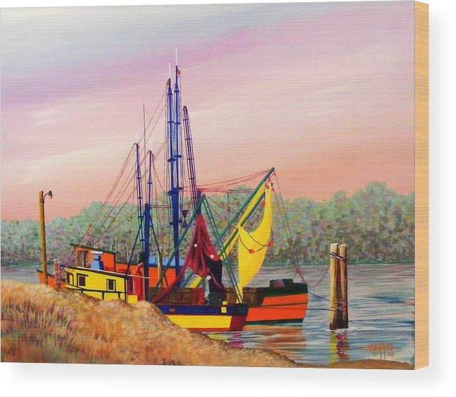 Landscape Wood Print featuring the painting Colorful Tribute by Hugh Harris