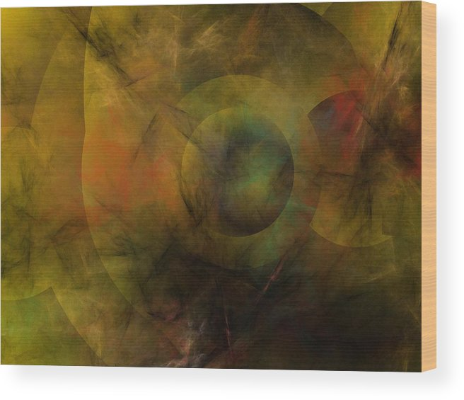 Fantasy Wood Print featuring the digital art Dance of the Spheres by David Lane