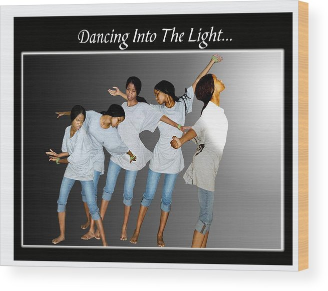 Photo Wood Print featuring the photograph Dancing Into The Light by Richard Gordon