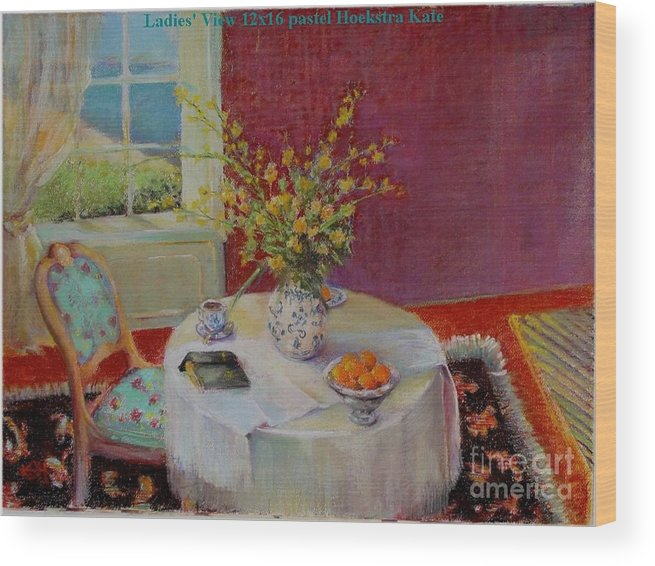 Interior Wood Print featuring the painting Dorothy s View  copyrighted by Kathleen Hoekstra