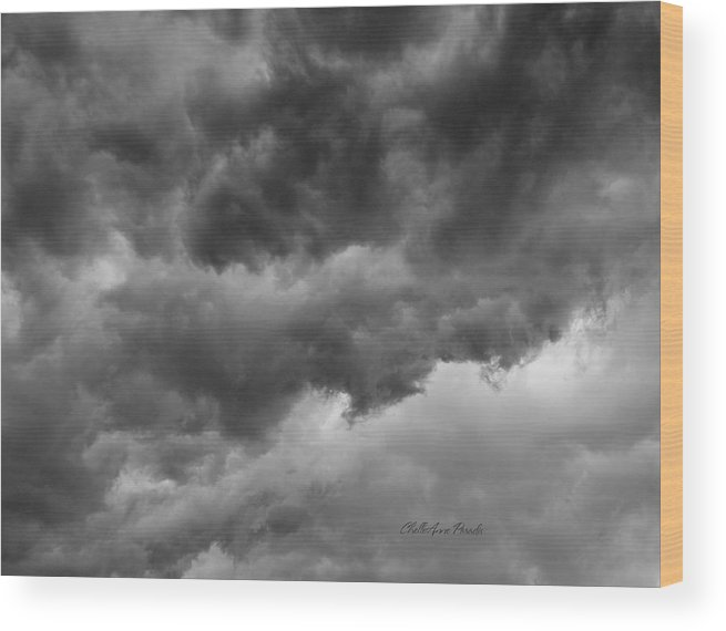 Clouds Wood Print featuring the photograph Faces In The Mist Of Chaos by ChelleAnne Paradis