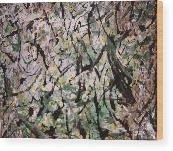 Wood Print featuring the painting Forest by Biagio Civale