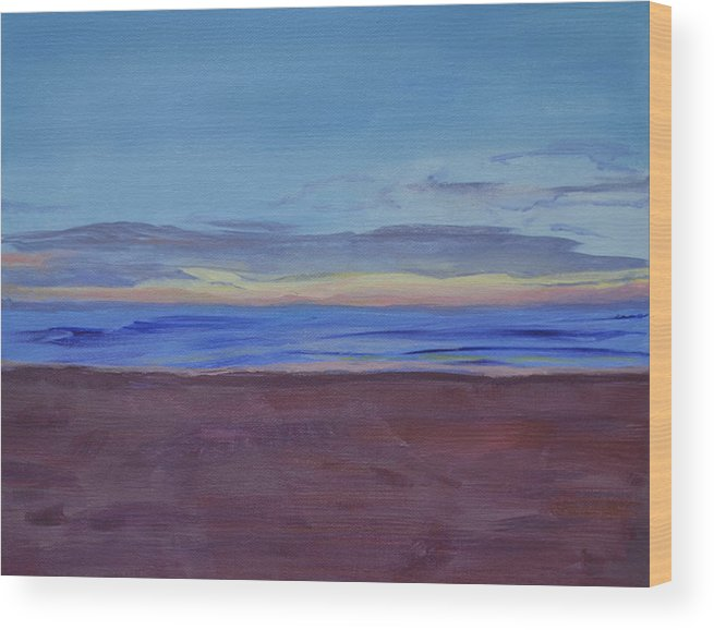 Beach Wood Print featuring the painting Graham's Beach by Mary Chant