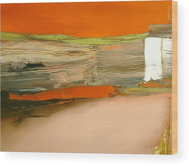 Abstract Wood Print featuring the painting In Search of the Lost Chord by Stefan Fiedorowicz