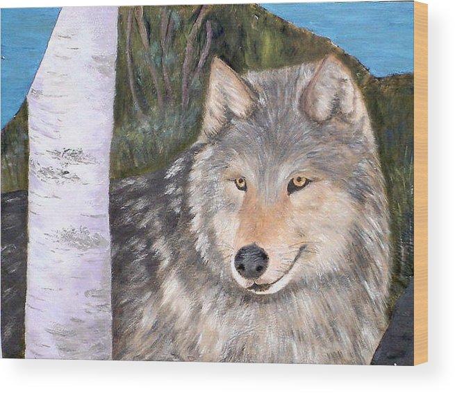 Wildlife Wood Print featuring the painting Indomitable Spirit II by Merle Blair