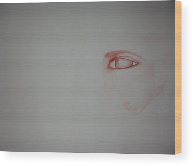 Watercolor Eye Art Wood Print featuring the painting Just An Eye by Marian Hebert