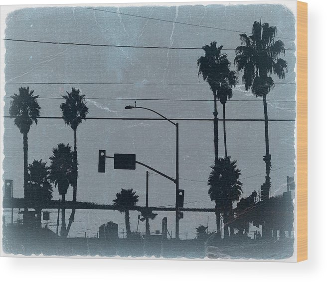 Baywatch Wood Print featuring the photograph Los Angeles by Naxart Studio
