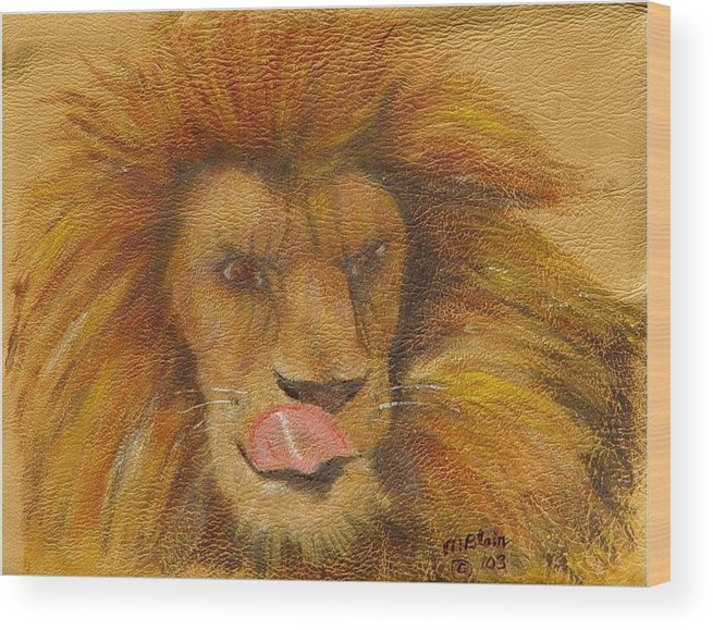 Wildlife Wood Print featuring the painting m-m-m- Good by Merle Blair