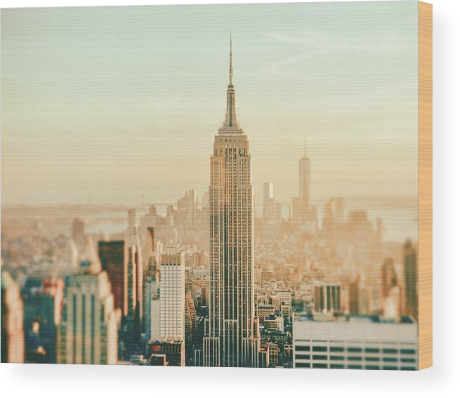 Nyc Wood Print featuring the photograph New York City - Skyline Dream by Vivienne Gucwa