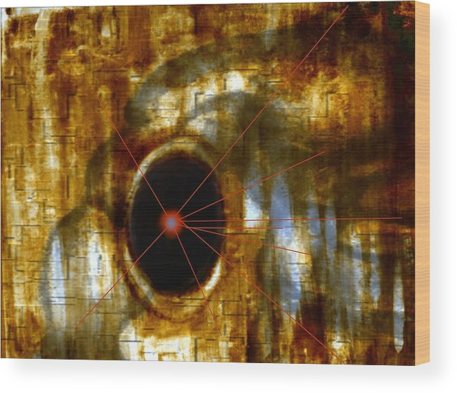 Abstract Figure In Form Wood Print featuring the digital art Number 9 by Joseph Ferguson