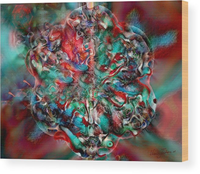 Heart Passion Life Wood Print featuring the digital art Open Heart by Veronica Jackson