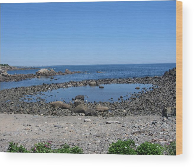 Emarc Wood Print featuring the photograph Perkins Cove Ocean View by Todd Dehart