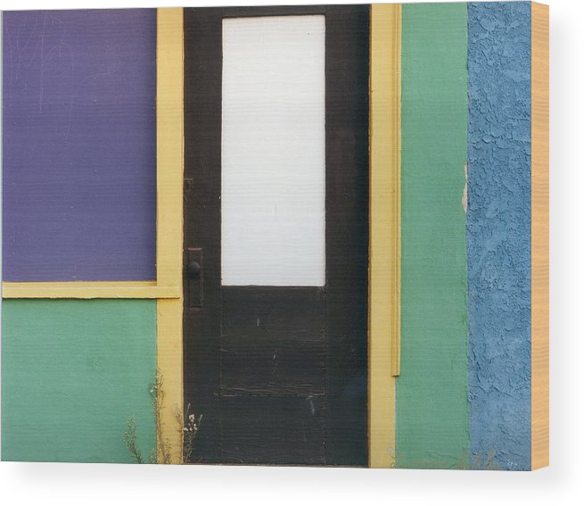 Weed Flower Urban Wood Print featuring the photograph Puerta de Los Angeles by Lawrence Costales