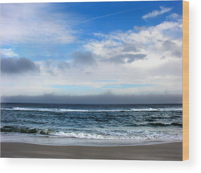 Seascape Wood Print featuring the photograph Receding Fog Seascape by Steve Karol