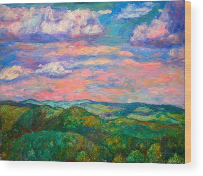 Landscape Paintings Wood Print featuring the painting Rock Castle Gorge by Kendall Kessler