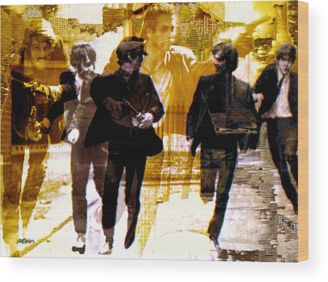 Beatles Wood Print featuring the photograph Running Under the Gun by Seth Weaver