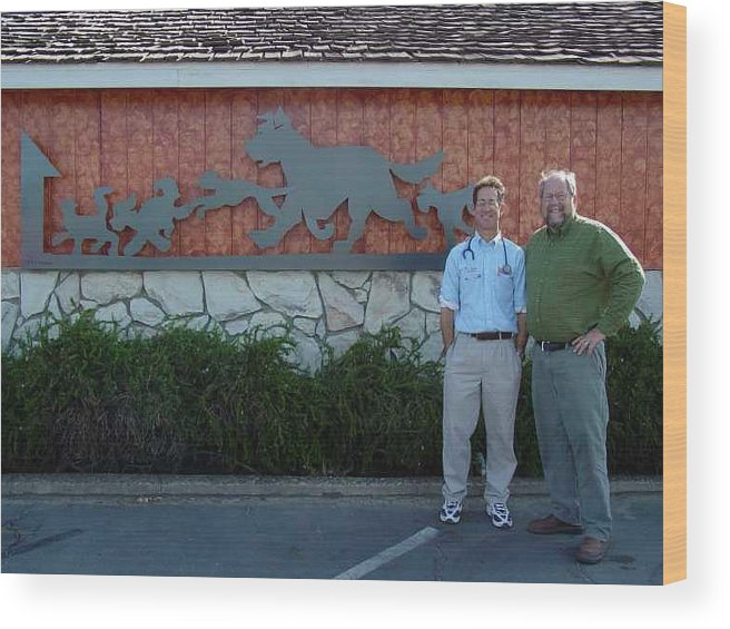 Corporate Commissions Wood Print featuring the sculpture Salida Veterinary Clinic   SOLD by Steve Mudge