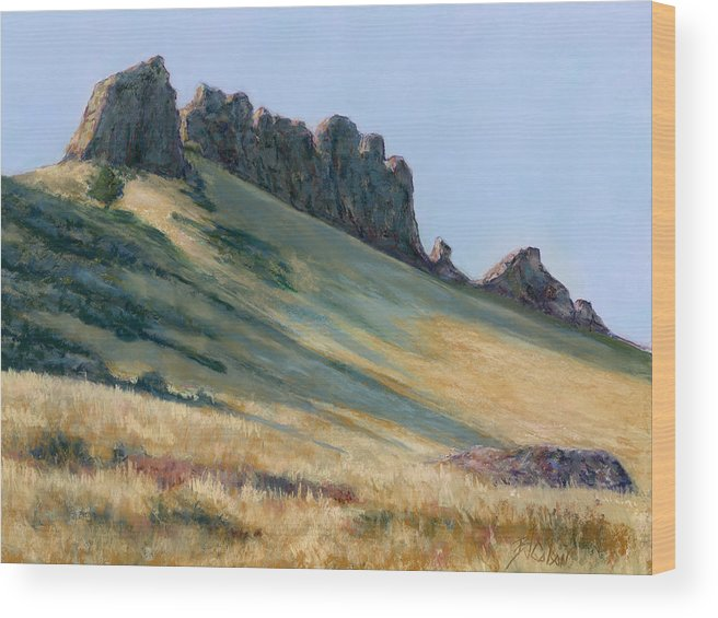 Loveland Colorado Landscape Wood Print featuring the painting The Backbone by Billie Colson
