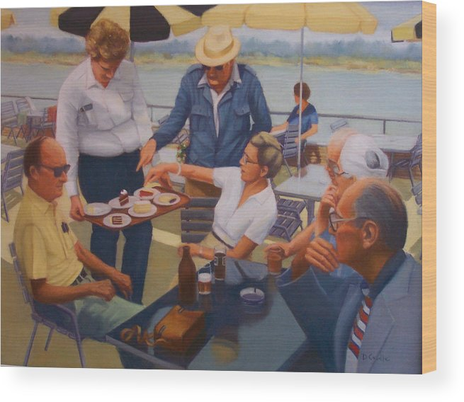 Rhine River Cruise Wood Print featuring the painting The Boat Party by Diane Caudle